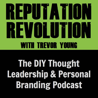 Catriona Pollard speaking on the Reputation Revolution Podcast with Trevor Young