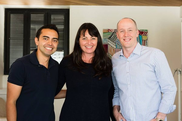 Catriona Pollard, Pat Flynn and Chris Ducker at Problogger 2014 #pbevent